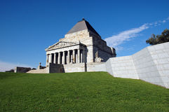 Shrine of Remembrance. Victoria War Memorial is located in downtown Melbourne, just south of Main Street next to St.Kilda Road Stock Photography