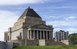 Shrine of Remembrance Melbourne. The Shrine of Remembrance is memorial to World War One veterans in Melbourne Australia Royalty Free Stock Photos