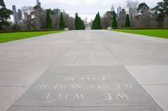 Shrine remembrance Melbourne Royalty Free Stock Photo