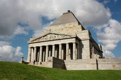 Shrine of Remembrance Royalty Free Stock Images