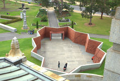 Shrine of remembrance visitors entrance Royalty Free Stock Photos