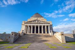 Shrine of remembrance the world war I & II memorial in Melbourne Stock Images