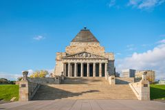 Shrine of remembrance the world war I & II memorial in Melbourne Royalty Free Stock Photo