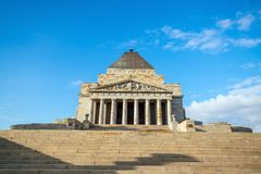 Shrine of remembrance the world war I & II memorial in Melbourne Royalty Free Stock Image