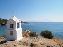 Shrine. A shrine on a rock, Sarti, Greece Royalty Free Stock Photos