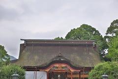 Shrine roof in Kyushu, Dazaifu Tenmangu. Detail on Japanese shrine roof in Kyushu, Dazaifu Tenmangu stock photography