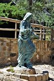 The Shrine of Saint Joseph of the Mountains, Yarnell, Arizona, United States. Statue at The Shrine of Saint Joseph of the Mountains located in Yarnell, Arizona stock images