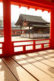Shrine in the sea - Itsukushima Shrine Royalty Free Stock Photography