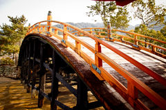 Shrine in the sea - Itsukushima Shrine stock photography