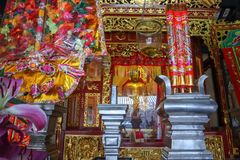 The shrine. To pay homage to the prosperity. Sacred and faithful stock photos