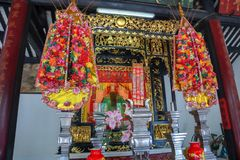 The shrine. To pay homage to the prosperity. Sacred and faithful royalty free stock photos