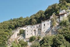Shrine of st. francis, greccio, rieti. Greccio, the shrine of st. francis, holy valley of rieti Stock Photography