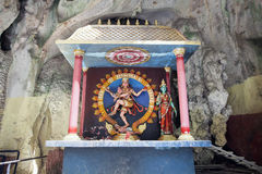 Shrine with Statue of Hindu God Shiva Nataraja Royalty Free Stock Images