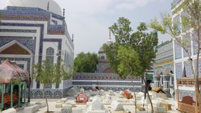 Picture of shrine of Shah Bhitai and graveyard of other sufi royalty free stock photography