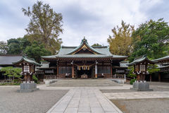 Shrine in Suizenji Jojuen garden at Kumamoto, Japan Stock Photo