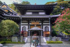 Shrine temple at Japan stock photography