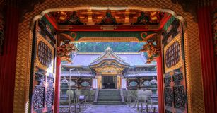 Shrine temple at Nikko stock photography