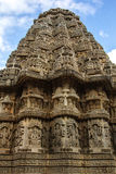 Shrine of Temple view. Vesara shrine at Keshava temple Somnathpur royalty free stock photos