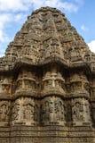 Shrine of Temple view. Vesara shrine at Keshava temple Somnathpur Royalty Free Stock Photos