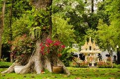Thai shrine. Shrine in a thai park, bangkok Stock Photography