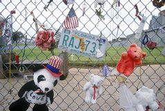 Shrine to the dead at the site of the bombing of the Alfred P. Murrah Federal Building, Oklahoma City, CA Stock Photos