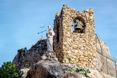 Shrine to the Virgin of the Rock in Mijas Stock Photography