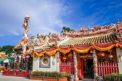 Shrine in Wat Phanan Choeng, Ayutthaya, Thailand royalty free stock photos