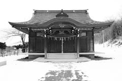 Shrine. Wood aged japan japanese misawa tohoku Stock Photo