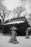 Shrine. Wood aged japan japanese misawa tohoku Royalty Free Stock Images