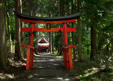 Shrine in the Woods Royalty Free Stock Photography