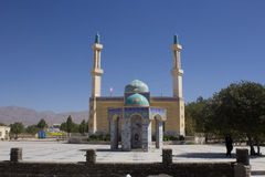 The shrine of Yahya ibn Musa Al Kazim. Picture of Shrine of Yahya ibn Musa Al Kazim in the Iranian city of neishabour, It is based on a mosque with one dome and Royalty Free Stock Images