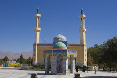 The shrine of Yahya ibn Musa Al Kazim. Picture of Shrine of Yahya ibn Musa Al Kazim in the Iranian city of neishabour, It is based on a mosque with one dome and Stock Photos