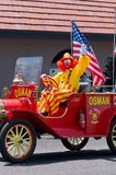 Shriners Circus Clown Waves to Crowd Royalty Free Stock Images