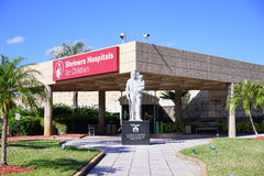 The Shriners Hospitals for Children. The main entrance of Shriners Hospitals for Children Royalty Free Stock Photography