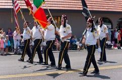 Shriners März an Mendota-Parade Stockbild