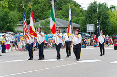 Shriners March in Mendota Parade stock image