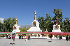 Shrines near Potala palace, Tibet Royalty Free Stock Image