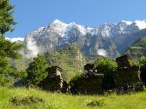 Shringi Himal (7 161 m. n M. ) da Chumling Fotografia Stock Libera da Diritti