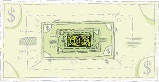 Shrinking Dollar Royalty Free Stock Image