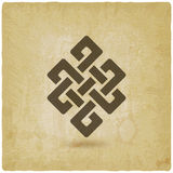 Shrivatsa endless knot vintage background. Vector illustration - eps 10 Royalty Free Stock Image