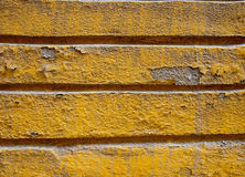 Shriveled Lined Wall. Close up in yellow color Royalty Free Stock Photography
