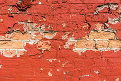 Shriveled red wall. On a street, I found this wall shriveled Royalty Free Stock Photo
