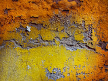 Painted Wall. Shriveled Wall close up in different colors Royalty Free Stock Image