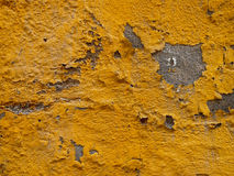 Shriveled Wall. Close up in yellow color Stock Photo
