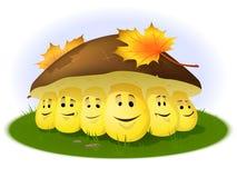 Shrooms drôles de dessin animé Images stock