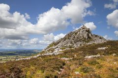 Shropshire countryside, England. Rocky outcrop at Stiperstones, Shropshire, England Royalty Free Stock Images