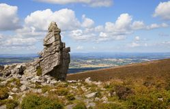 Shropshire countryside, England. Rocky outcrop at Stiperstones, Shropshire, England Stock Photography