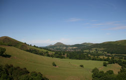 Shropshire Hills. Looking over towards Church Stretton and Caer Caradoc Royalty Free Stock Image