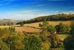 Shropshire Hills. View over the Shropshire hills during Autumn Stock Photography