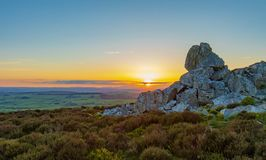Shropshire landscape at sunset royalty free stock images